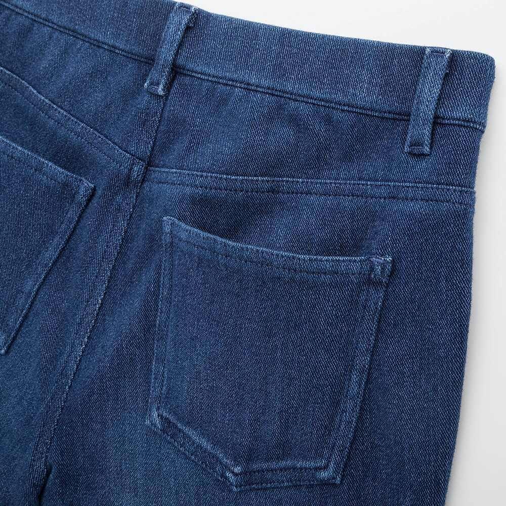 Uniqlo Women Heattech Celana Legging Denim Celana Pakaian Kasual Kasual