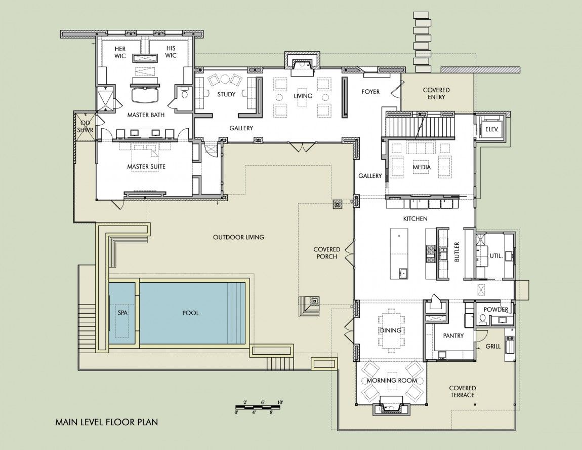 Hill Country Residence By Cornerstone Architects 73 Architectural Floor Plans Dream House Plans How To Plan