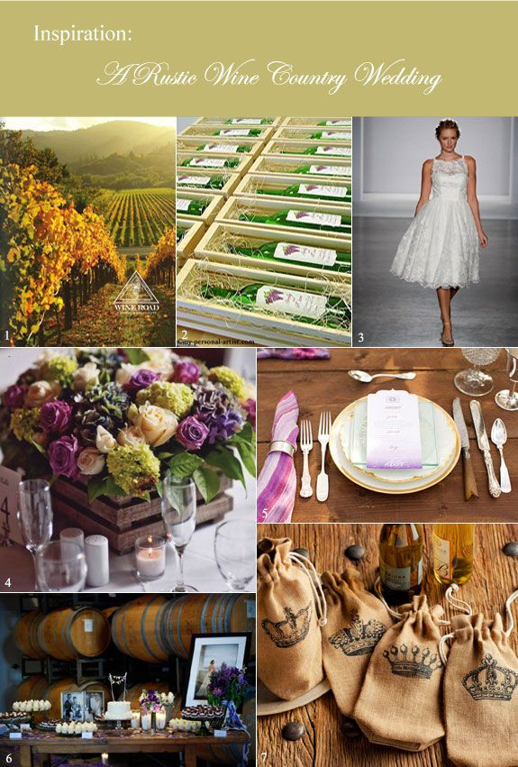 A Vintage Wine Country Wedding With Romantic Touches Inspiration