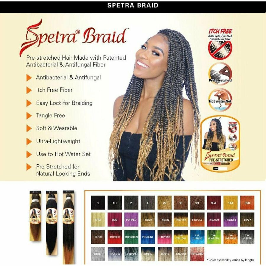 Ez Braid Spetra Pre Stretched Braiding Hair Hot Water Setting Itch