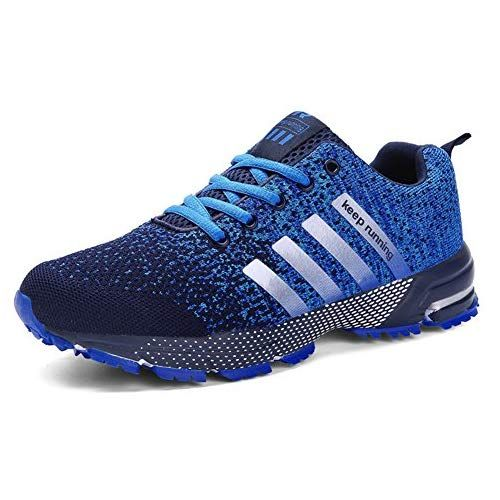 e864b5abf0 KUBUA Mens Running Shoes Trail Fashion Sneakers Tennis Sports Casual  Walking Athletic Fitness Indoor and Outdoor Shoes for Men EU 42/8.5 D(M) US  F Blue