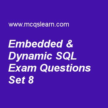 Practice test on embedded dynamic sql dbms quiz 8 online practice test on embedded dynamic sql dbms quiz 8 online practice database management system exams questions and answers to learn embedded dynamic ccuart Image collections