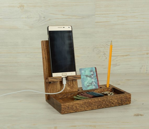 Wooden Desk Organizer Wood Phone Stand Wooden Stand Iphone