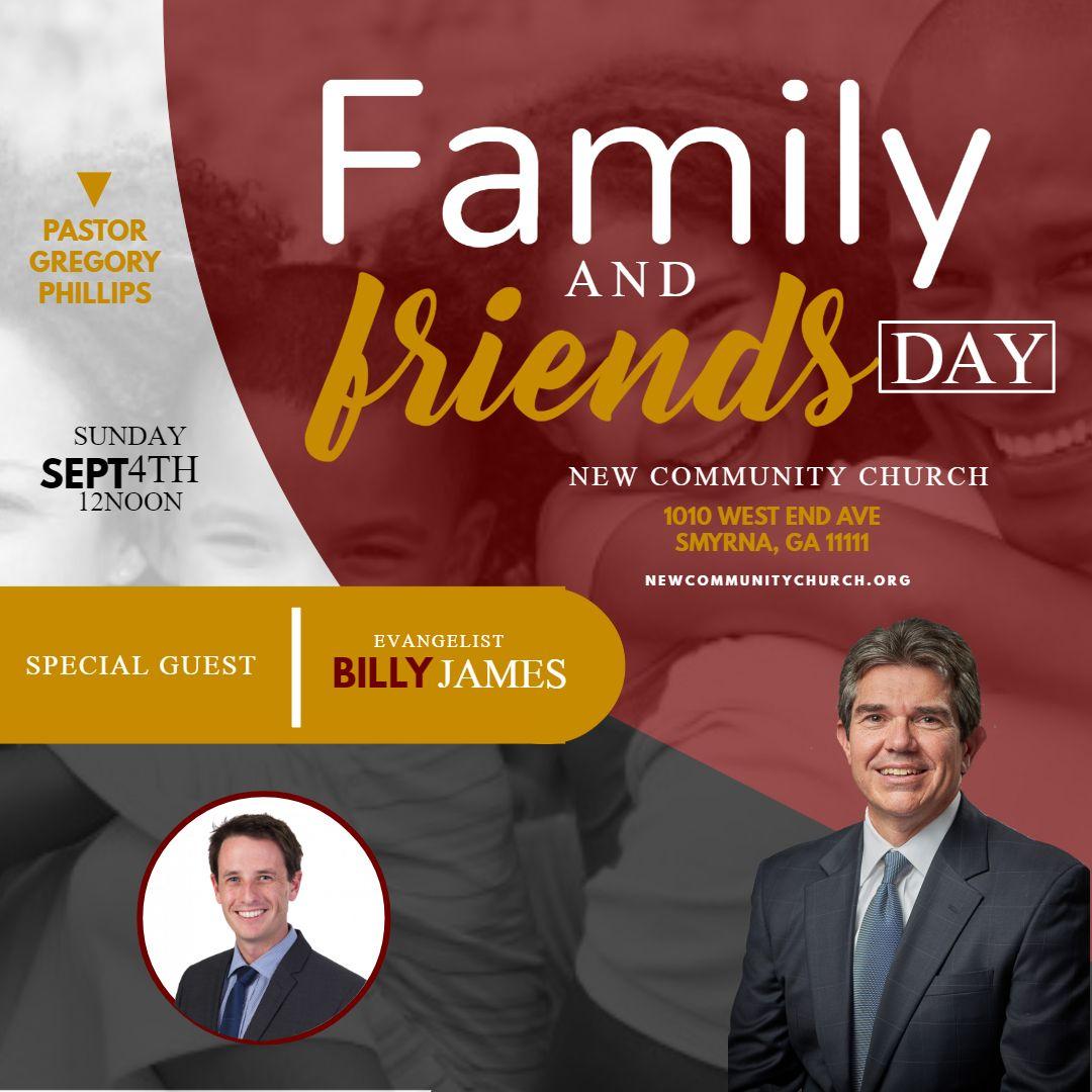Church family event instagram social media post template