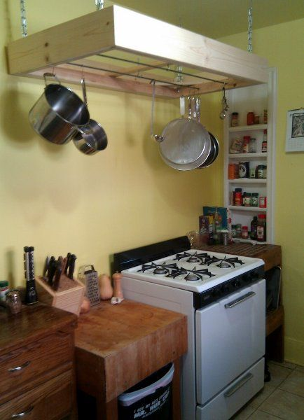 DIY overhead Kitchen rack