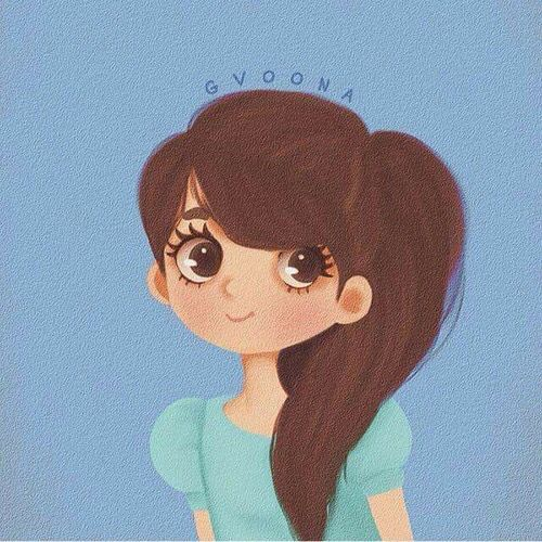 Pin By Titum Kk On Girly M Cute Cartoon Girl Profile Picture Whatsapp Profile Picture