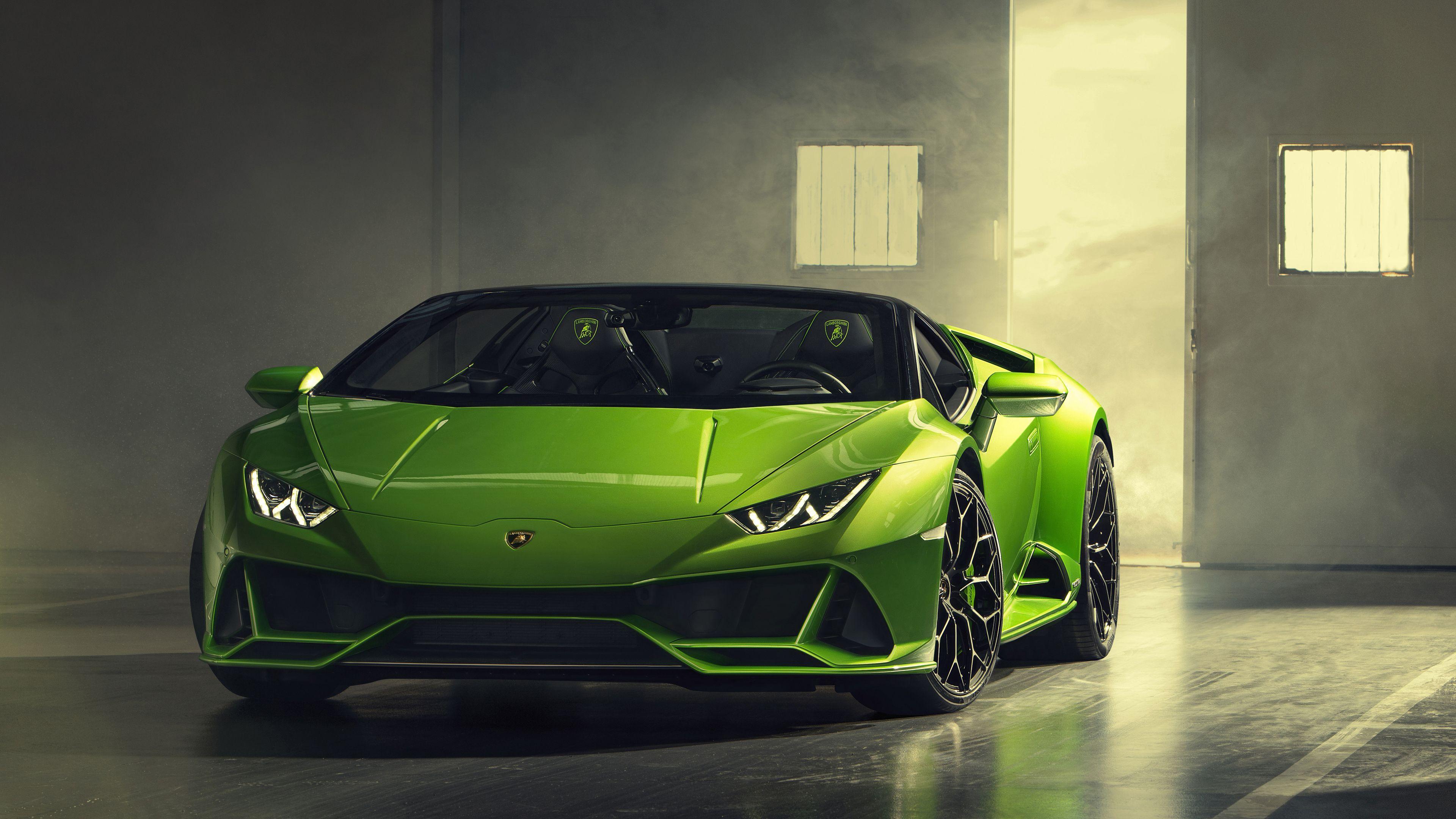 2019 Lamborghini Huracan Evo Spyder Front 4k lamborghini wallpapers, lamborghini…