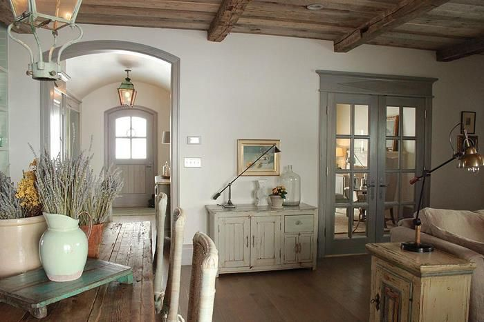 Good Example Of The Darker Trim With Light Walls French Style