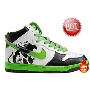 Mens Nike Dunk High Custom Brass Monki White Black Green  fefdf1bd8d4c