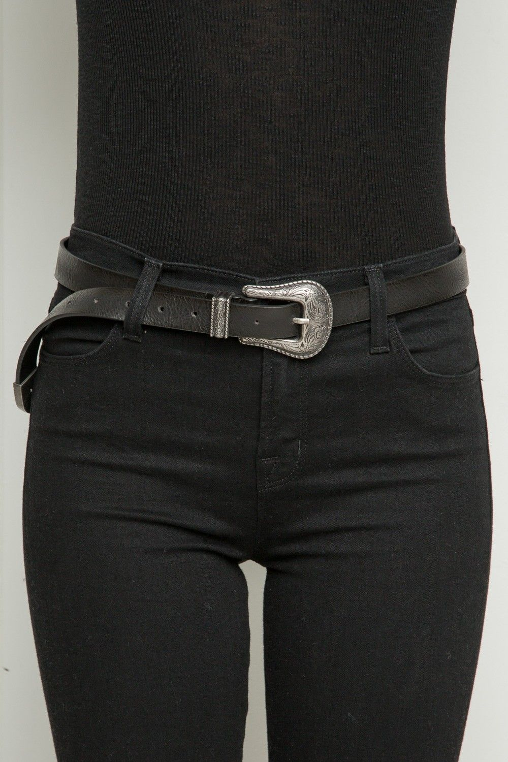 Brandy Melville Etched Silver Buckle Belt Accessories