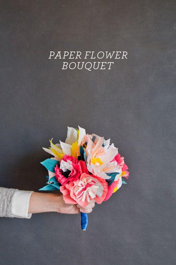 Paper Flower Bouquet DIY | Lynnet | Pinterest | Flower bouquet diy ...