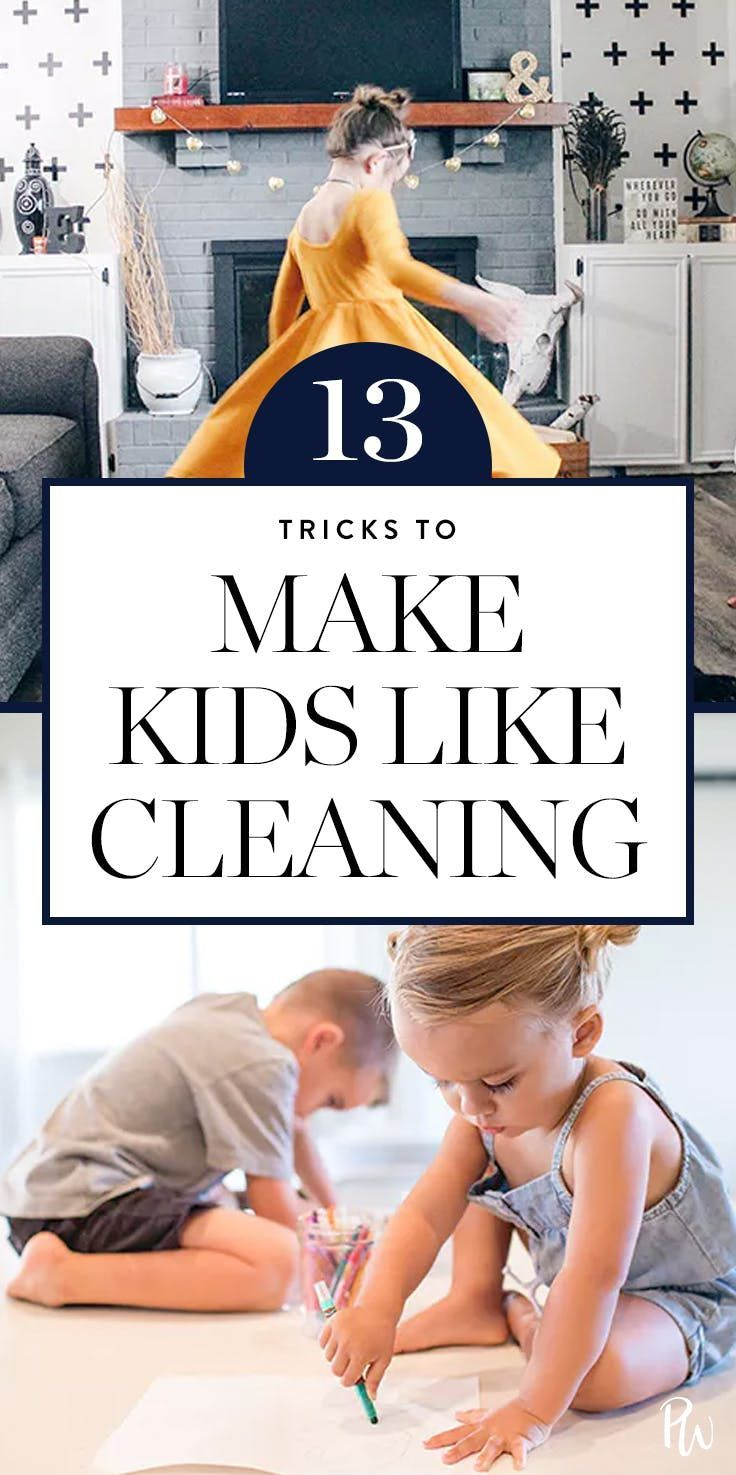 13 Little Tricks to Make Your Kid Like Cleaning   via @PureWow