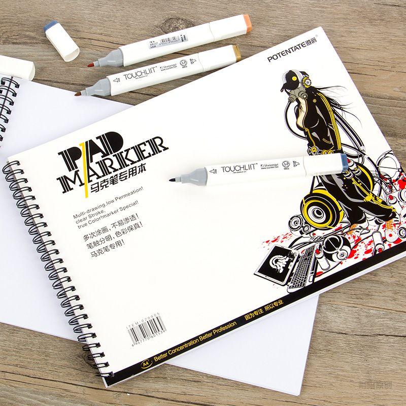 Cheap Alta Calidad A3 A4 A5 4 K Cuaderno De Papel De Marcador Disenadores Pintura Efecto Diagrama De Arquit Hoja De Cuaderno Materiales De Arte Disenos De Unas
