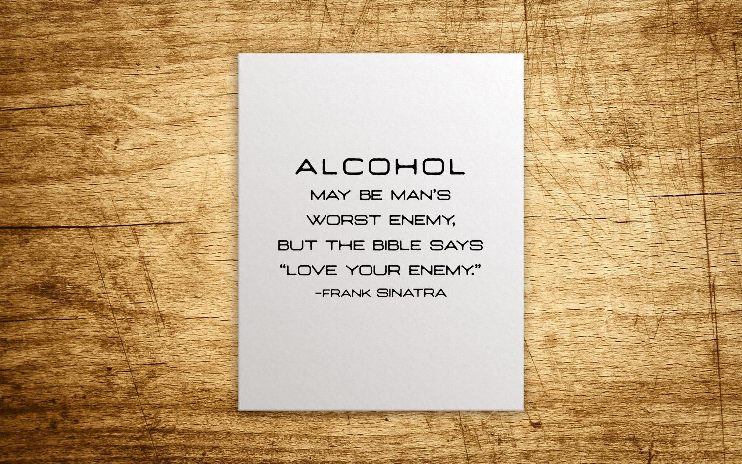 I feel sorry for people who don't drink. #beer #beerquotes ...   Frank Sinatra Quotes About Beer