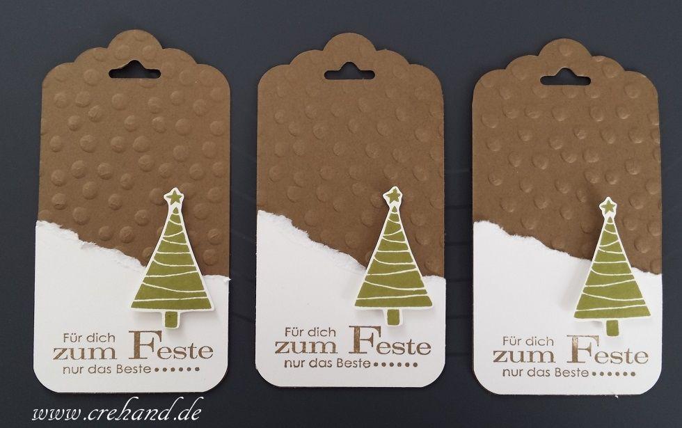 Stampin' Up! Blog und Produkte bei Stempelwiese #geschenkanhängerweihnachten