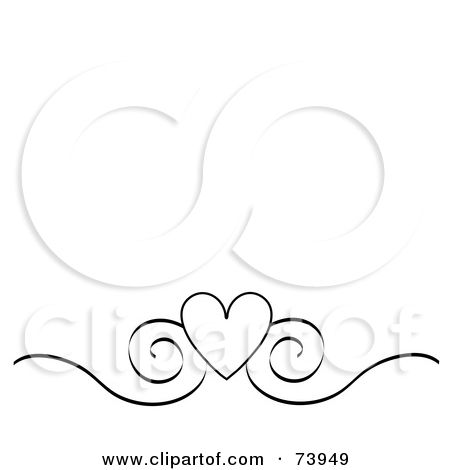 Free Scroll Work Images | Black And White Heart And Scroll Design ...
