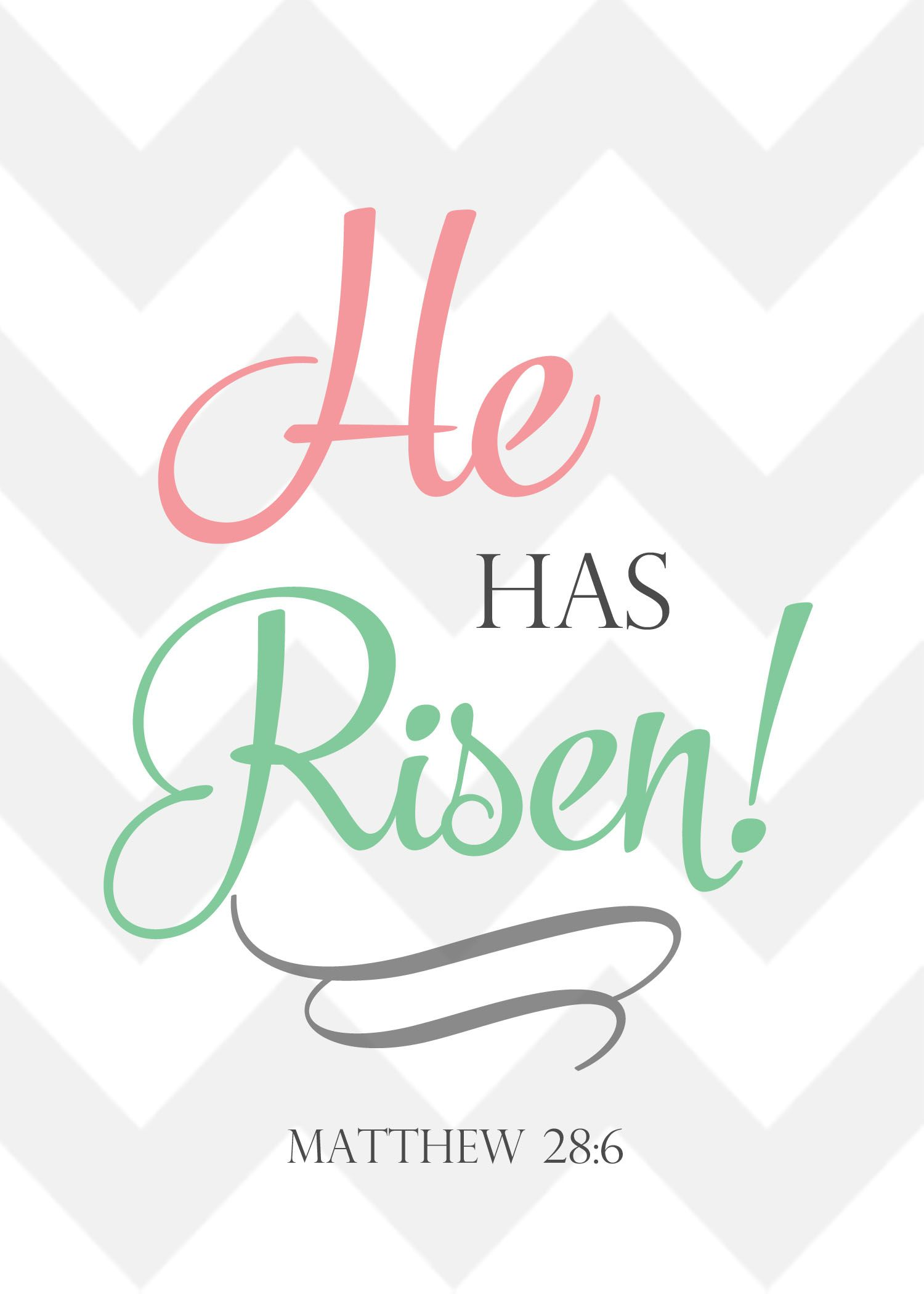 He Is Risen - Christian Easter Printable from www ...