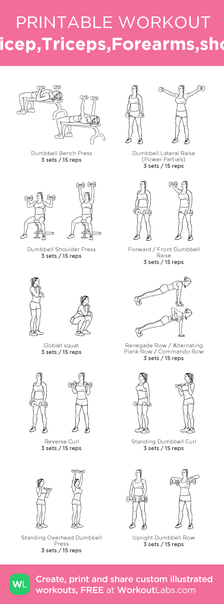 photograph about Printable Arm Workouts identified as Pin upon Arm Training