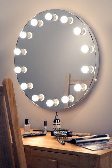 Hollywood Mirror 08 Wall Mounted Dia 700mm X Depth 60mm Spiegel Verlichting Led