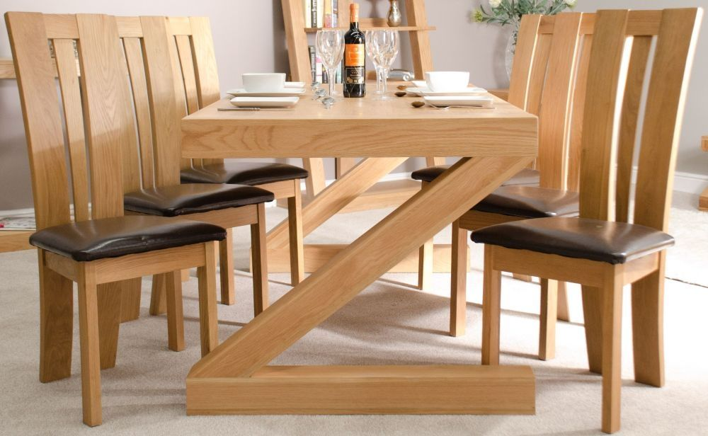 Ex Display Z Solid Oak Furniture Dining Table 6ft X 3ft In 2020