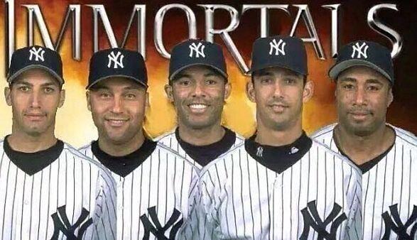purchase cheap 9c866 d335a Yankees immortals - Andy Pettitte, Derek Jeter, Mariano ...