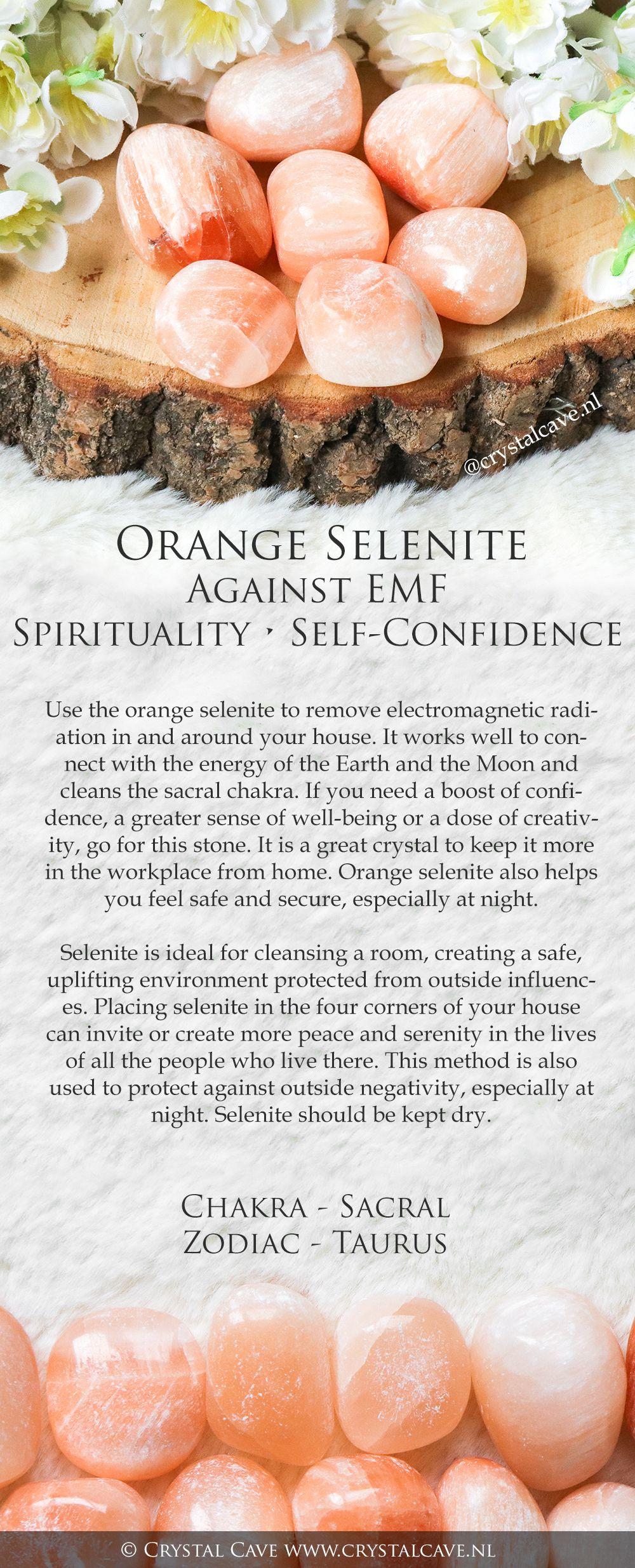 Orange Selenite Crystal Tumbled Stone Polished Stone Etsy Spiritual Crystals Selenite Crystal Crystals And Gemstones