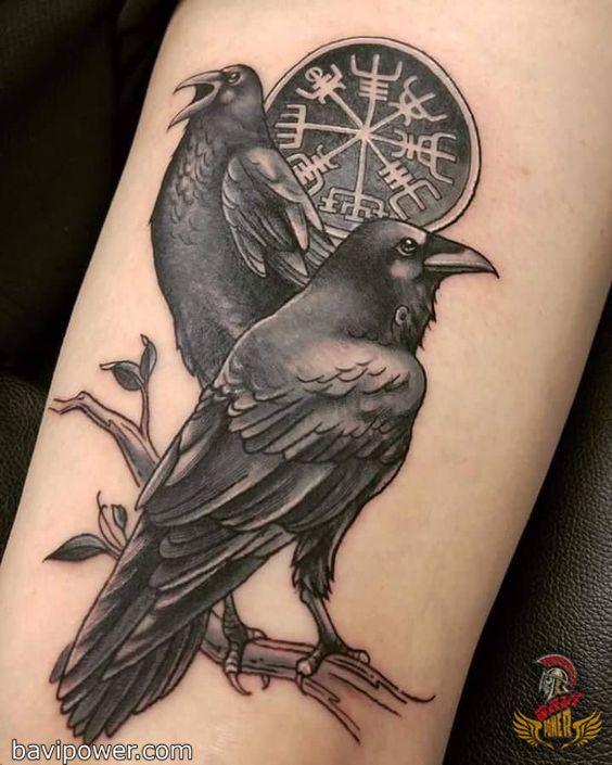 Viking Raven Tattoo #vikingsymbols