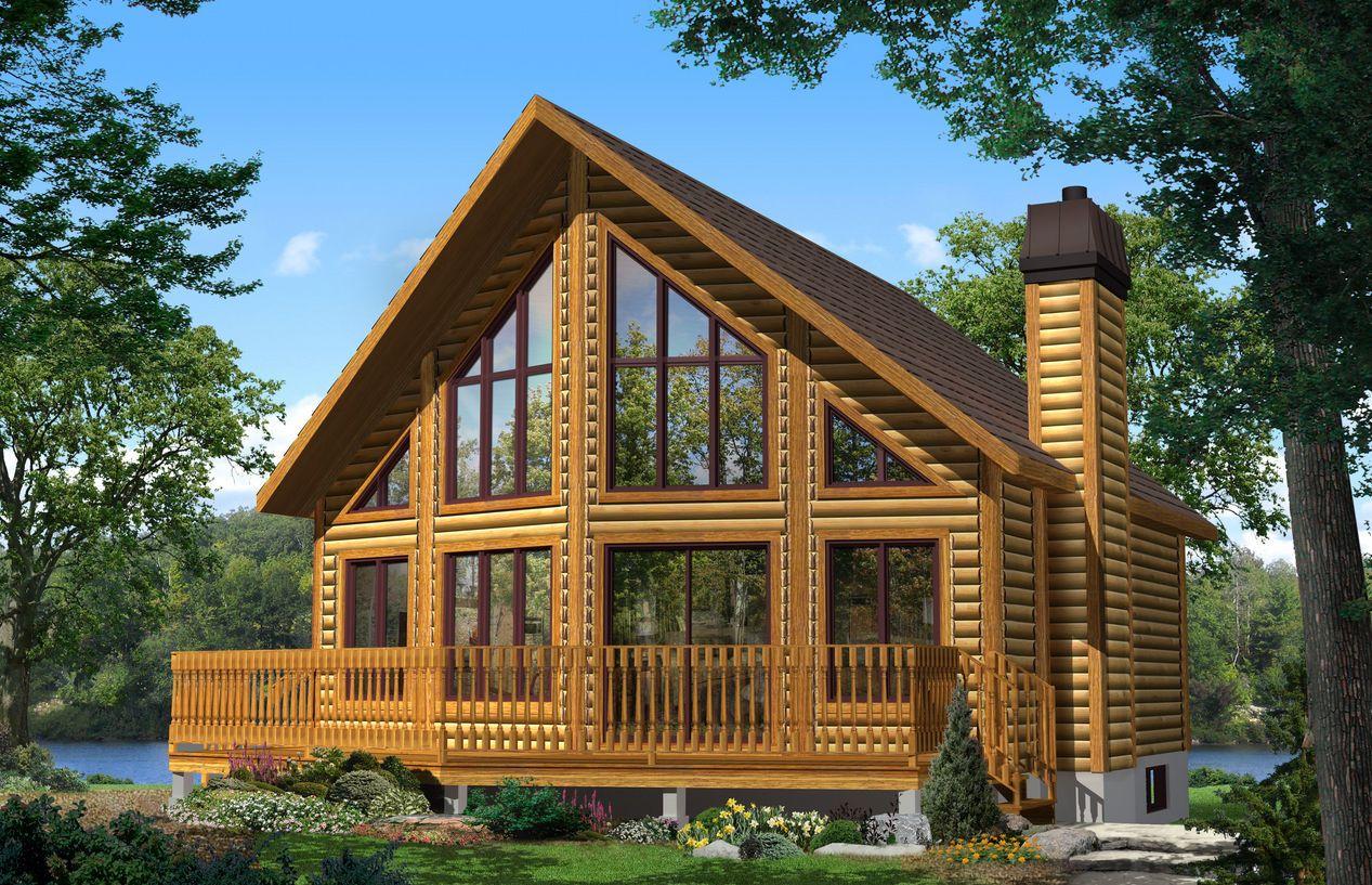 Casa prefabricada de madera modelo kelowna by timberblock - Modelo casa prefabricada ...