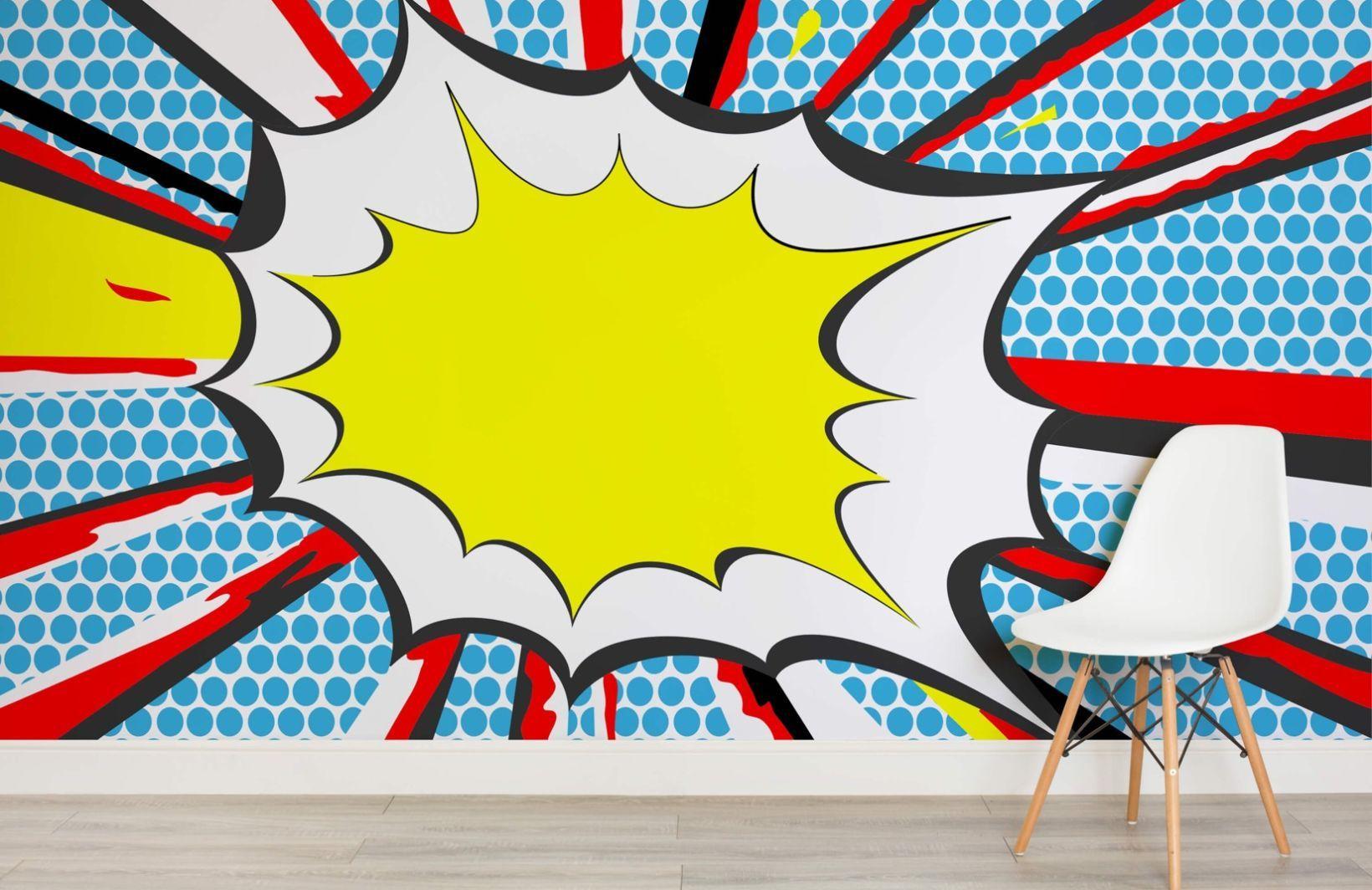 BANG Pop Art Wallpaper Wall Mural | MuralsWallpaper.co.uk | Retro ...