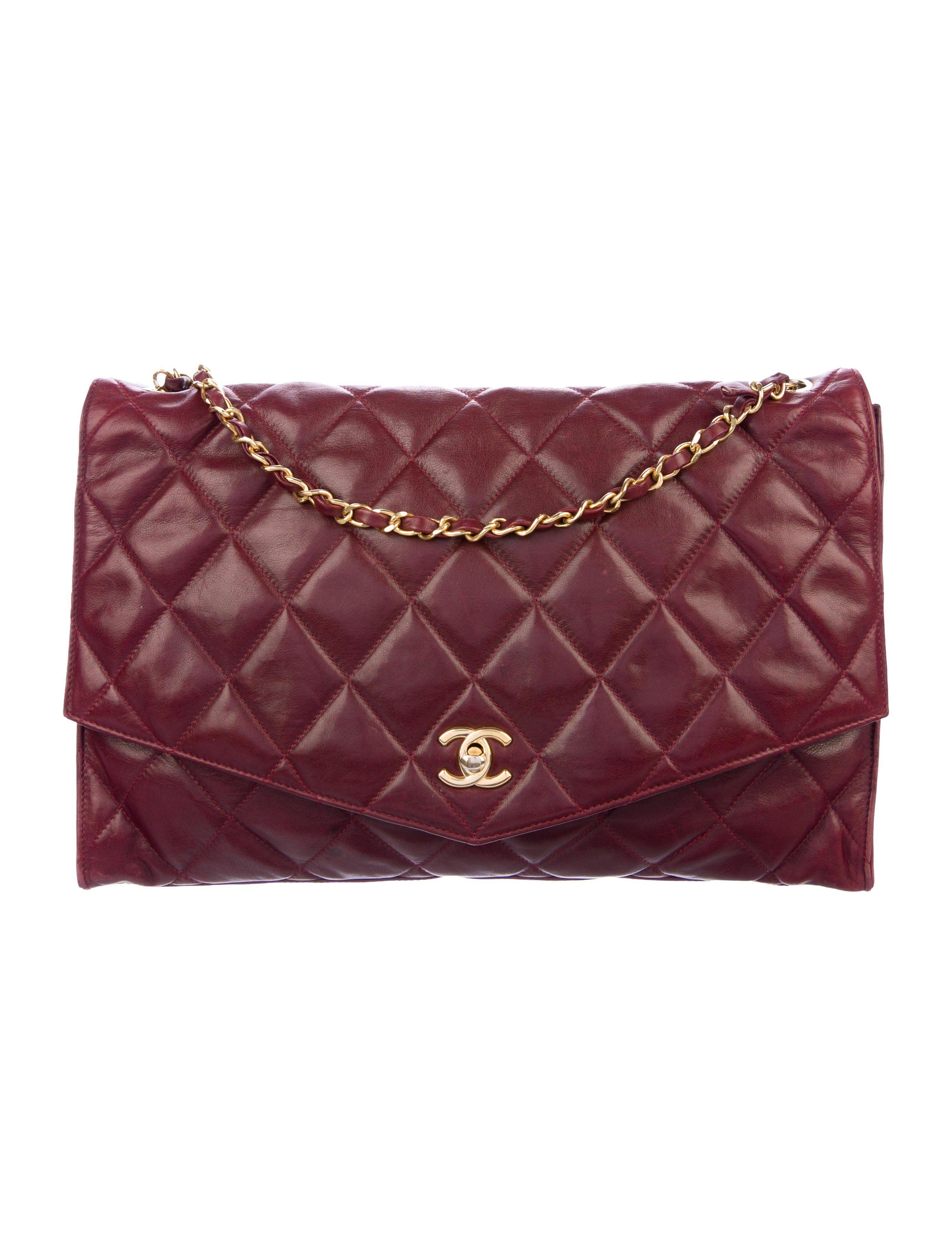 Vintage Quilted Flap Chain Handbag Chanel Shoulder Bag Vintage Chanel Chanel