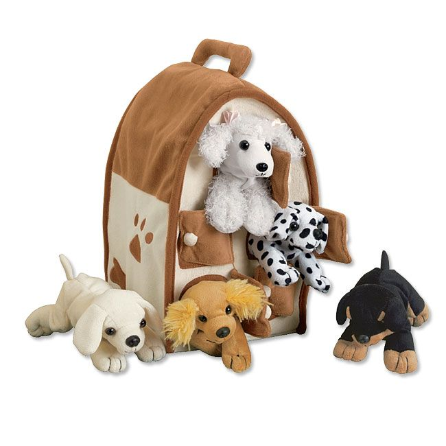 Plush Stuffed Animal Puppies Dog House And Puppies Orvis On