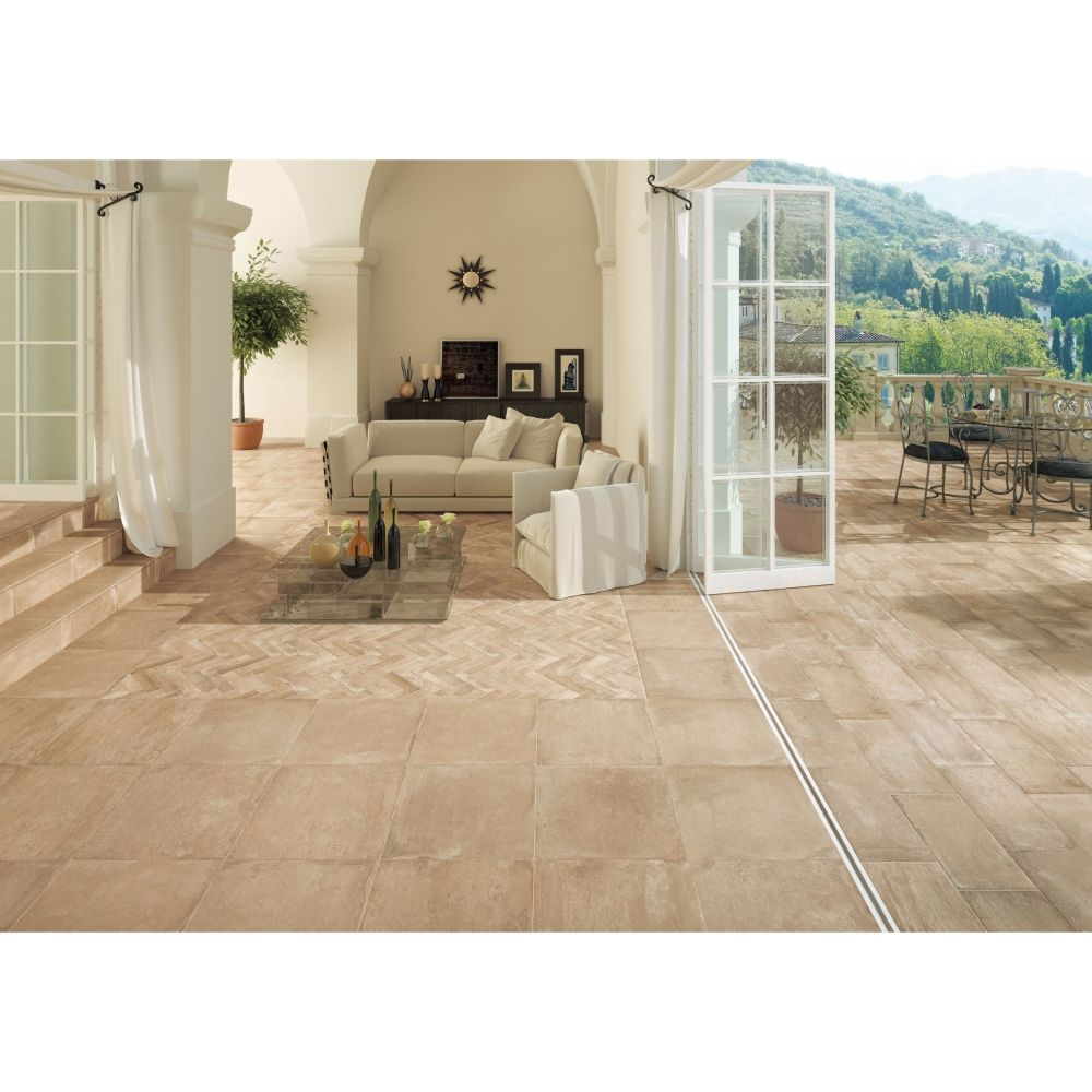 Carrelage ext rieur effet pierre 50x50 siena grip for Carrelage 50x50