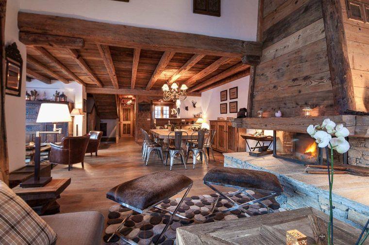Décoration intérieur chalet montagne  50 idées inspirantes Salons