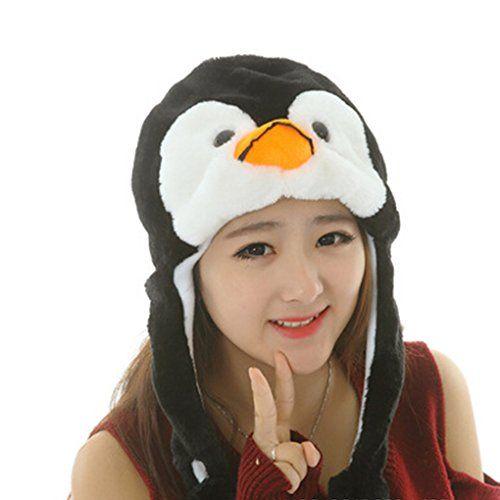 Bonnet Animaux Chapeau Ski Peluche Animal Adulte Enfant Echarpe Capuche  oreilles Ours Panda Husky Lapin Fausse Fourrure Automne Hiver Chaud  Halloween ... 74f50872627