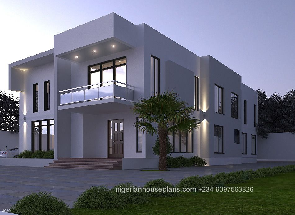 4 Bedroom Duplex Ref 4039 Duplex House Design House Architecture Design Duplex Design