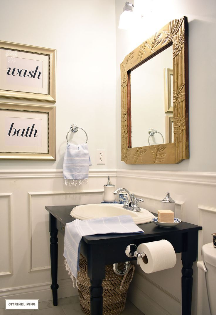 HOW I\'M UPDATING OUR SMALL BATH FOR LESS THAN $500 | Light blue ...