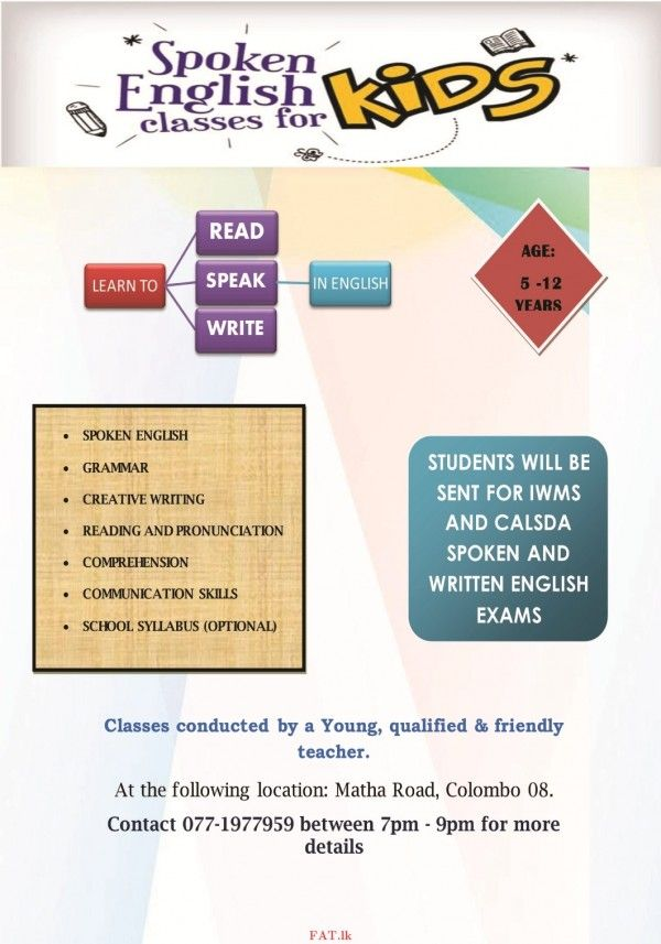 spoken english classes for kids