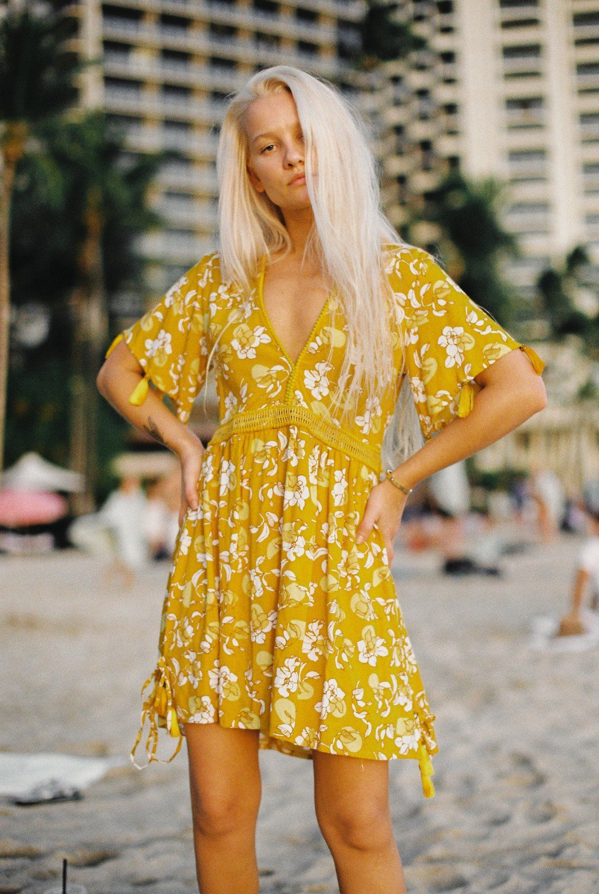 Boho Mini Summer Sundress In Honey In Small Trendy Dresses Summer Ethical Fashion Warm Weather Fashion [ 1800 x 1207 Pixel ]