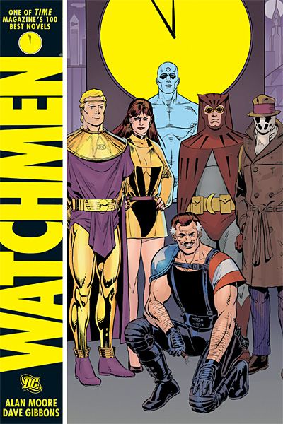 Watchmen.  The real one, written by Alan Moore and drawn by Dave Gibbons.  Not the crappy prequels DC is about to produce...  'nuff said!