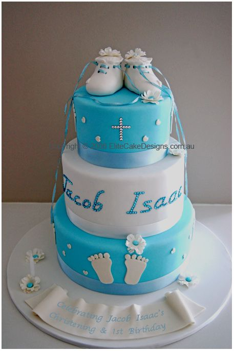 Baptism Cakes For Boys | Tower, Christening Cakes Sydney, Christening Cake, Christening Cake ...