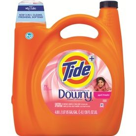 Tide Plus Downy 138 Fl Oz April Fresh He Liquid Laundry Detergent