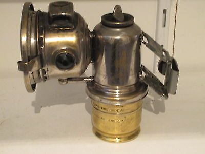 VINTAGE ANTIQUE JOS LUCAS BICYCLE MOTORCYCLE CARBIDE LAMP LANTERN LIGHT (C)