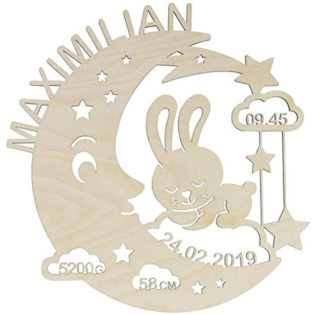 Laublust Schlummerlicht Mond Hase Personalisiertes Baby Geschenk Zur Geburt Taufe Led Hinterg Nachtlicht Fur Kinder Baby Geschenk Personalisiert Schlummern