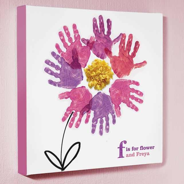 Cute For Mother S Day Craft Kids Canvas Art Spring Crafts For Kids Handprint Art