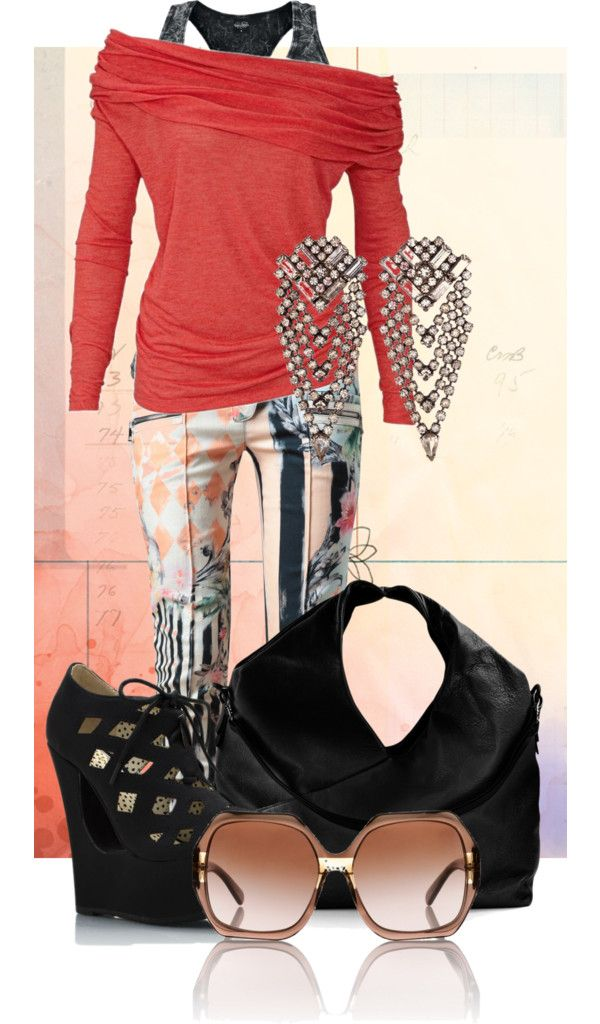 """""""Punk Coral"""" by annahart123 ❤ liked on Polyvore"""