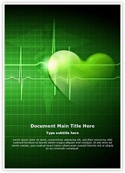 Heart Beat Ms Word Template Is One Of The Best Ms Word Templates