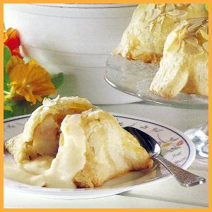 #Apfelpäckchen und Pfirsichtörtchen mit #Pfirsichspalten.  Apfelpäckchen sind ein raffiniertes, leckeres Dessert, sie werden Warm mit Zitronenschaumsauce serviert, die #Pfirsichtörtchen werden in Eiermilch gebettet.  http://www.schlemmereckchen.de/apfelpaeckchen/