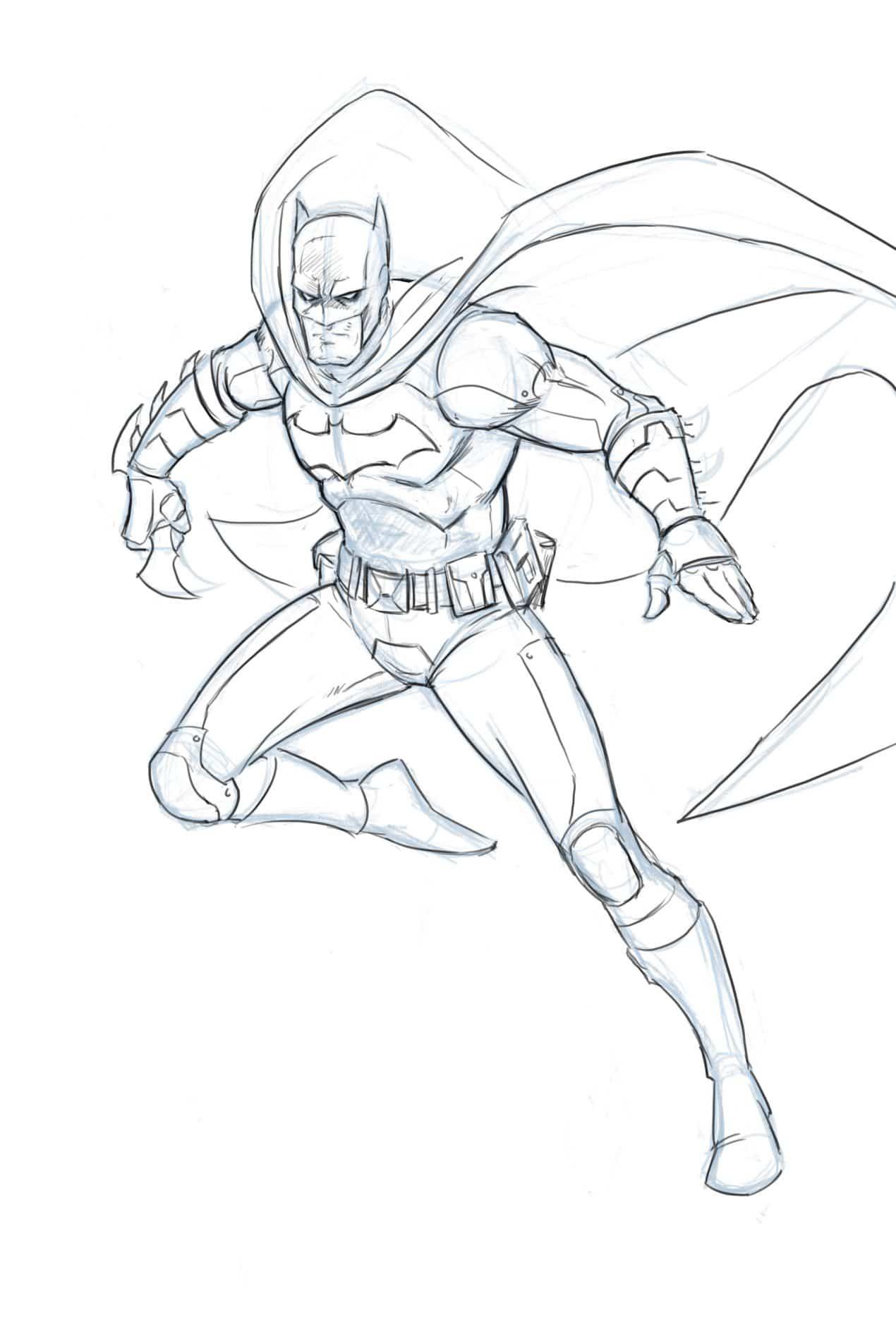 How To Draw Batman Full Body Step By Step Tutorial Cizim Desenler