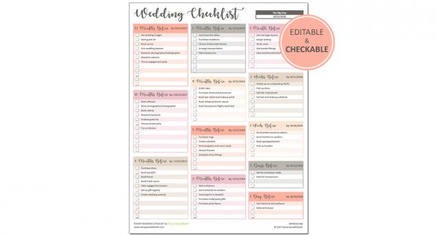 11 Wedding Checklists Ideas Checklist Wedding Checklist Wedding Planning Checklist