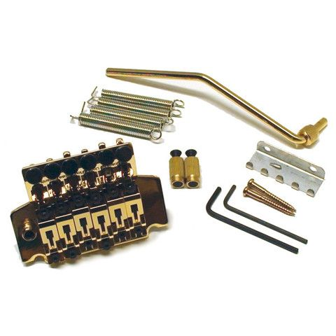 Ant Hill Music Licensed Floyd Rose II Style Tremolo Bridge with Hardware Gold
